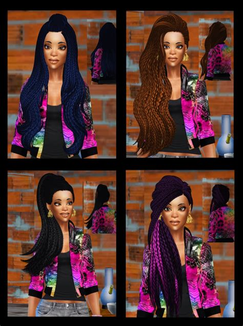 sims 4 custom content braids 26 more braided hairs obviously all braided my sims 4