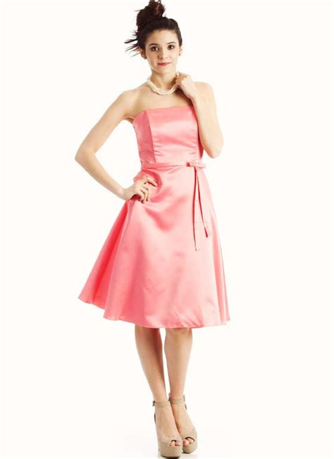 A069   Satin Tube Top Formal Dress Size: S