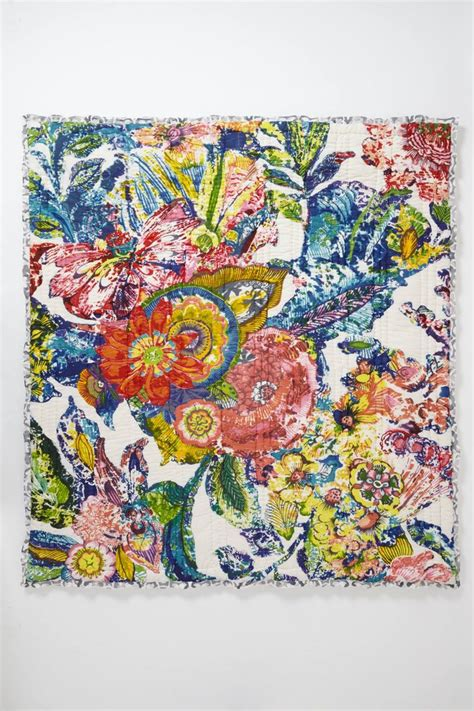 Anthropologie Hothouse Quilt by Nip Anthropologie Roseland King Quilt 2 Standard Shams