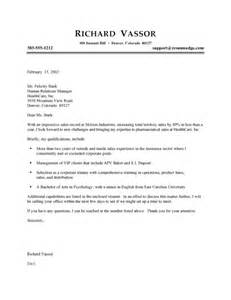 cover letter types and sles sales cover letter exles