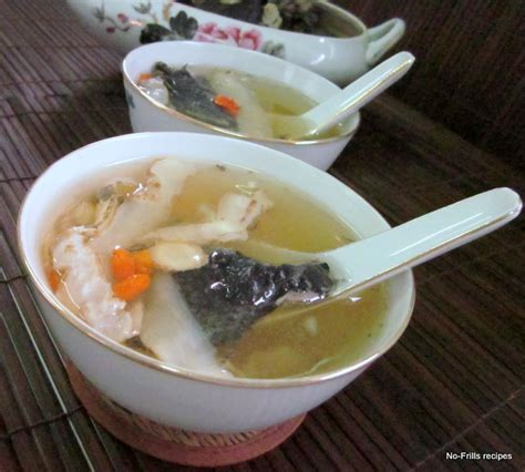 double boiled black chicken soup