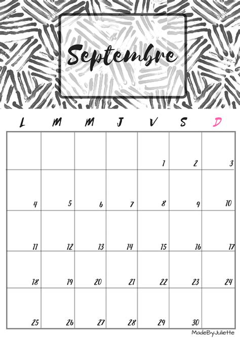 Calendrier Septembre 2017 Pdf Calendrier Septembre 2017 224 Imprimer Calendriers