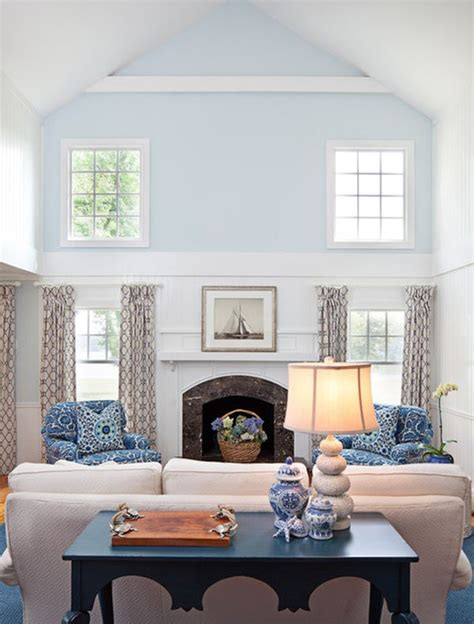 Living Room High Ceiling by Cool Blue Living Room Ideas