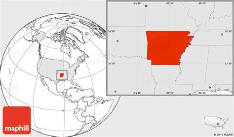 united states map with arkansas highlighted blank location map of arkansas highlighted country