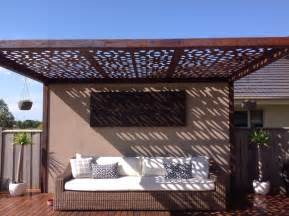 pergola roof panels outdoor pergola with laser cut feature roof panels by