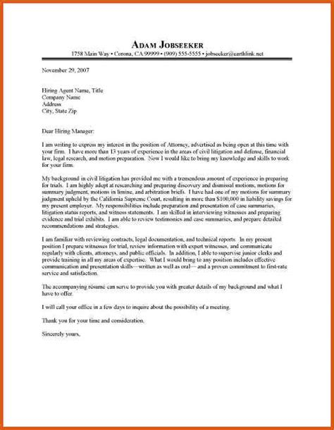 Junior Attorney Cover Letter attorney cover letter general resumes
