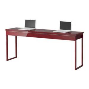 Long Desk Table The Love Of Beauty Ikea Long Narrow High Gloss Desk