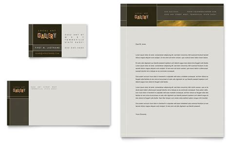 gallery title cards template gallery artist business card letterhead template