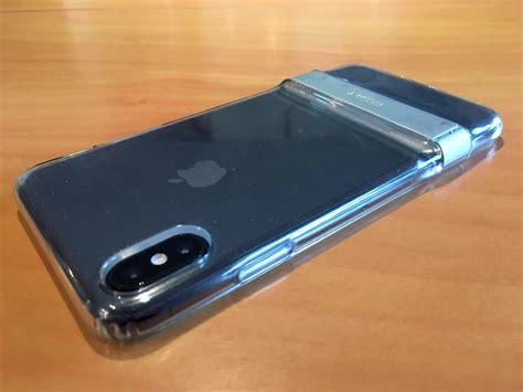 test lecteur la coque transparente esr pour iphone  xr xs avec support bequille metallique