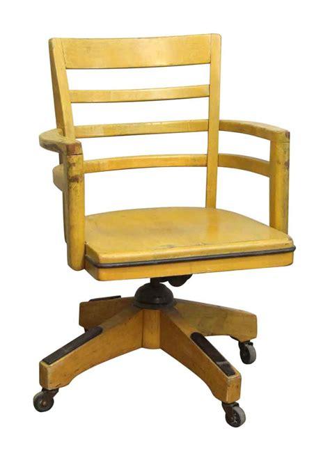swivel chair wheels wood swivel chair with wheels olde things