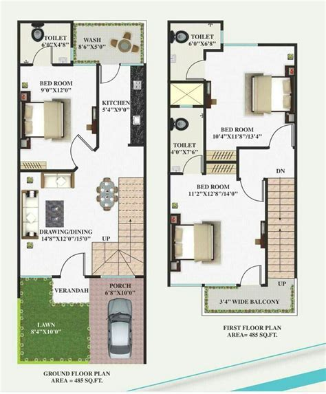 15 X 40   Working plans in 2019   House plans, House