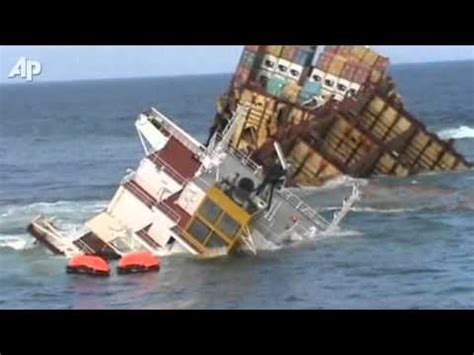 biggest boat ever sunk wrecked cargo ship sinking in new zealand youtube