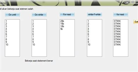 tecno x2 pamungkaz techno x2 contoh program dengan menggunakan looping