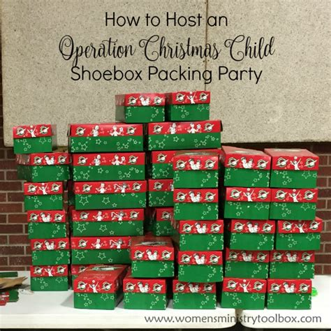 how to host an operation christmas child packing party