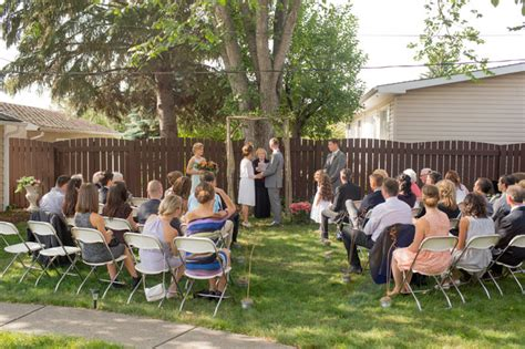 backyard wedding ceremony and fabien s edmonton gallery wedding