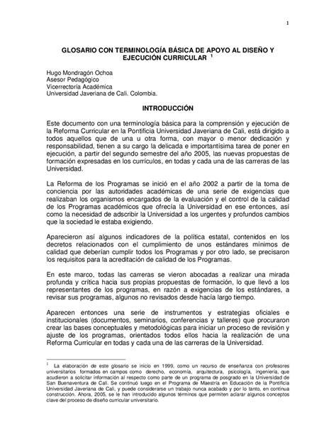 Diseño Curricular Dominicano Y Sus Caracteristicas Glosario Dise 209 O Curricular By Ivonnestela Martinez Issuu