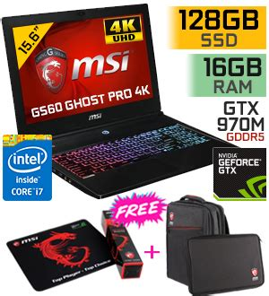 """buy msi gs60 2qe ghost pro 4k 15.6"""" core i7 gaming laptop"""