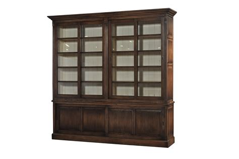 hudson bookcase with sliding doors christian