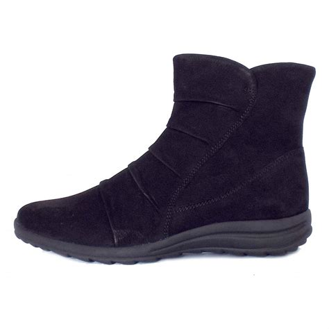 comfortable black ankle boots gabor irma comforable ankle boots in black mozimo