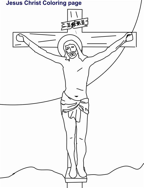 coloring pages jesus died on the cross jesus coloring printable page for