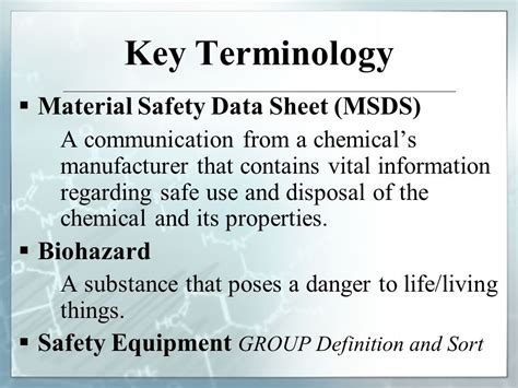 group biography definition material safety data sheets hazards in the lab chemical
