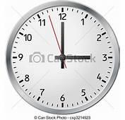 Vectores De Blanco Reloj  Pared Vector