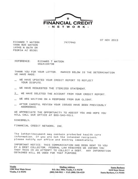 Credit Inquiry Removal Letter Template sle credit dispute letter to collection agency