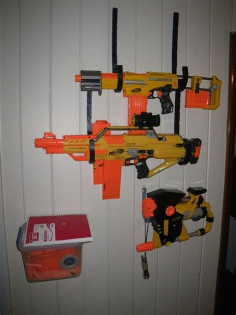 How To Build A Nerf Gun Rack by Easy Removable Nerf Blaster Rack Do It Yourself
