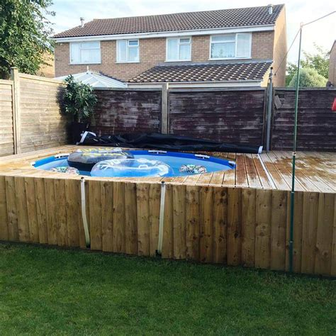 Diy Backyard Pool Swimming Pool Out Of Pallets Diy