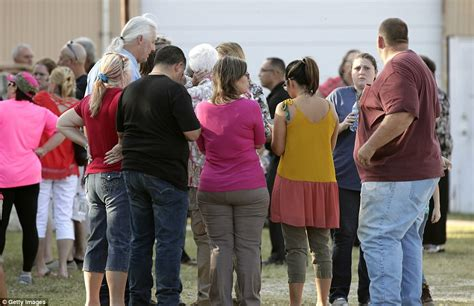 by the early evening people start to gather at the port get their texas church shooting gunman kills at least 27 people