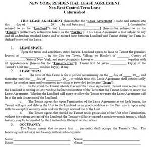 nys will template new york residential tenancy lease agreement new york