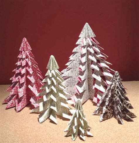 patterned diy mini christmas trees allfreepapercrafts com
