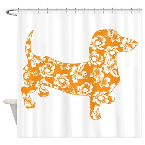 dachshund shower curtain hawaiian doxie dachshund shower curtain by doggietease