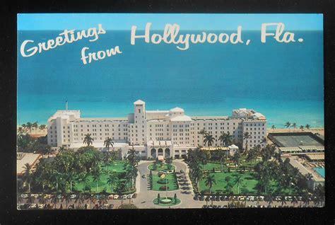 hollywood beach hotels fl 1950s aerial hollywood beach hotel hollywood fl broward ebay