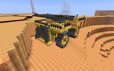 minecraft dump truck minecraft construction vehicles vehicle ideas
