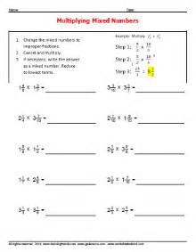 multiplying mixed numbers worksheets 187 worksheetsdirect com