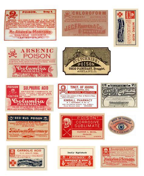 printable poison labels vintage poisons halloween bottles free printables