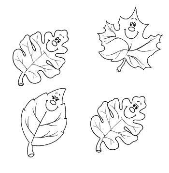 hojas de otono coloring pages hojas de otono para colorear dibujos de 10 lrg car