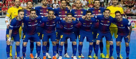 equipo futbol sala barcelona resultados p 225 gina oficial fc barcelona