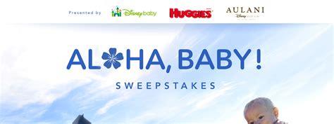 Aloha Sweepstakes Games - aloha baby sweepstakes disney partners