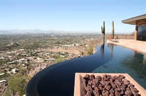 Backyard Design Landscaping Lewis Negative Edge Pool Project Phoenix Landscaping