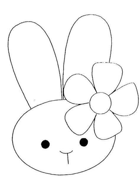 simple bunny coloring page pinterest the world s catalog of ideas