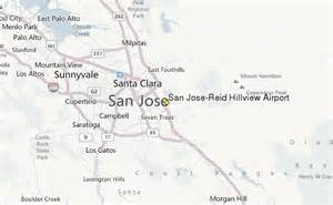 San Jose Airport Map by San Jose Reid Hillview Airport Weather Station Record