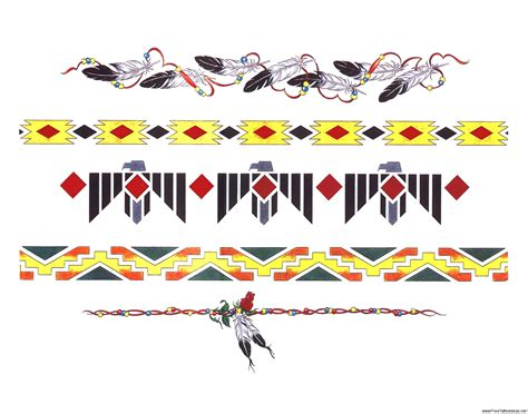 native american tribal band tattoos armband tattoos