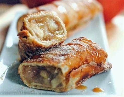 cinnamon apple dessert chimichangas nom just desserts pinterest