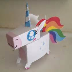Papercraft Unicorn - unicorn crafts unicorn paper craft preschool