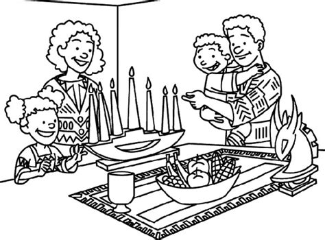 free coloring pages of kwanzaa lighting the kwanzaa coloring page kwanzaa pinterest
