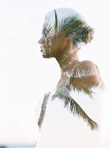 double exposure tree tutorial double exposure of bride with palm tree in hawaii by wendy
