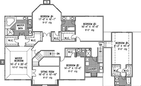 6 bedroom house floor plans 6 bedroom single family house plans print this floor