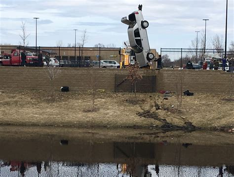 walmart cottage grove or driver plunges into drainage pond near cottage grove
